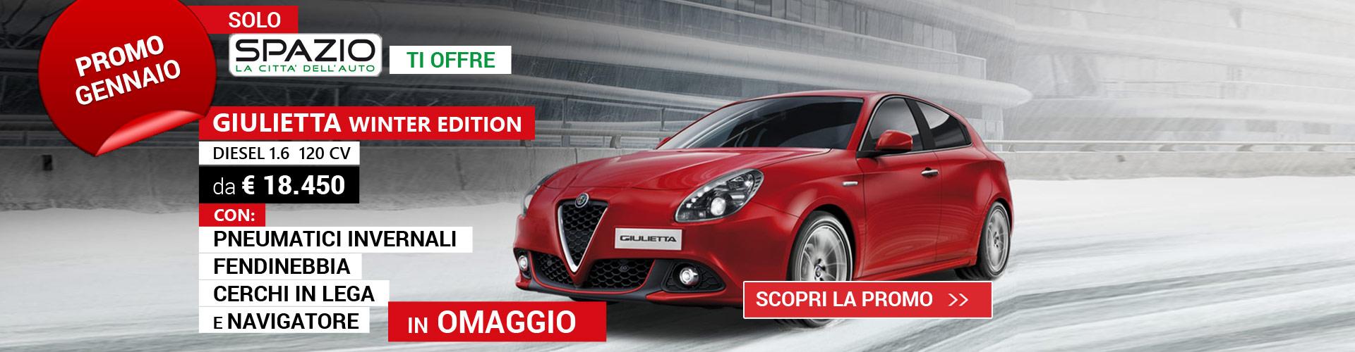 Giulietta Winter Edition Promo Spazio