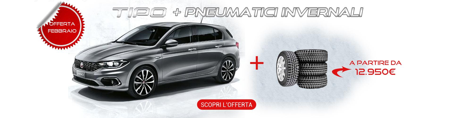 Fiat Tipo con pneumatici invernali