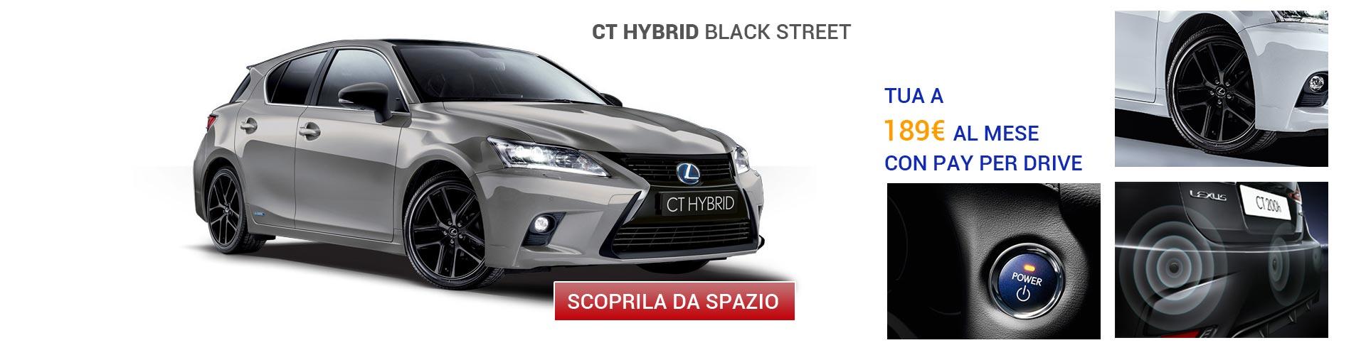 Lexus CT Hybrid Black Street