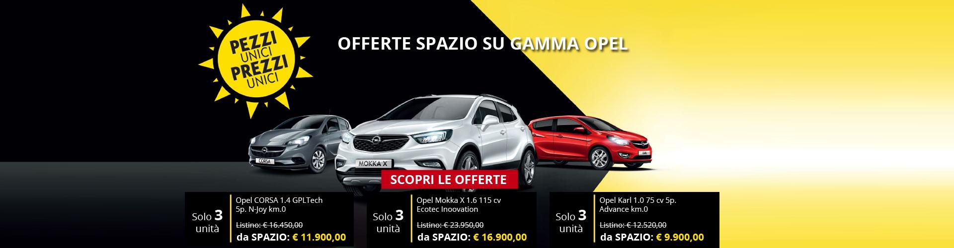 Offerte gamma Opel da Spazio a Torino
