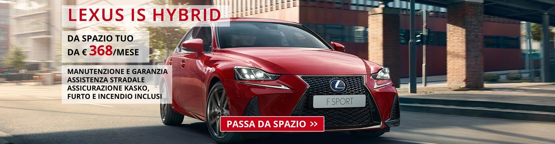 Lexus IS Hybrid da Spazio Torino
