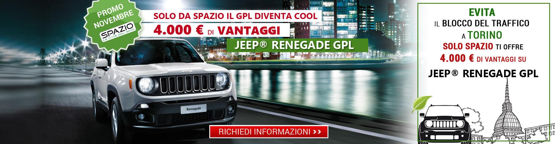 Jeep Reneagde GPL da Spazio a TORINO