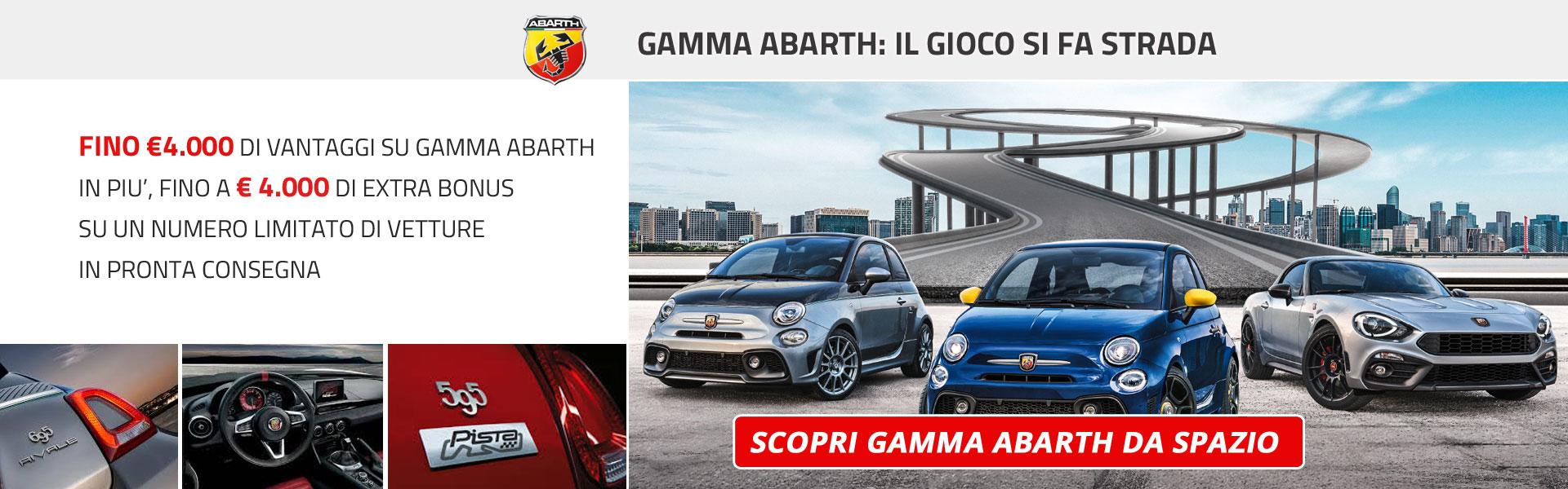 Gamma Abarth con vantaggi fino a 4000 Euro