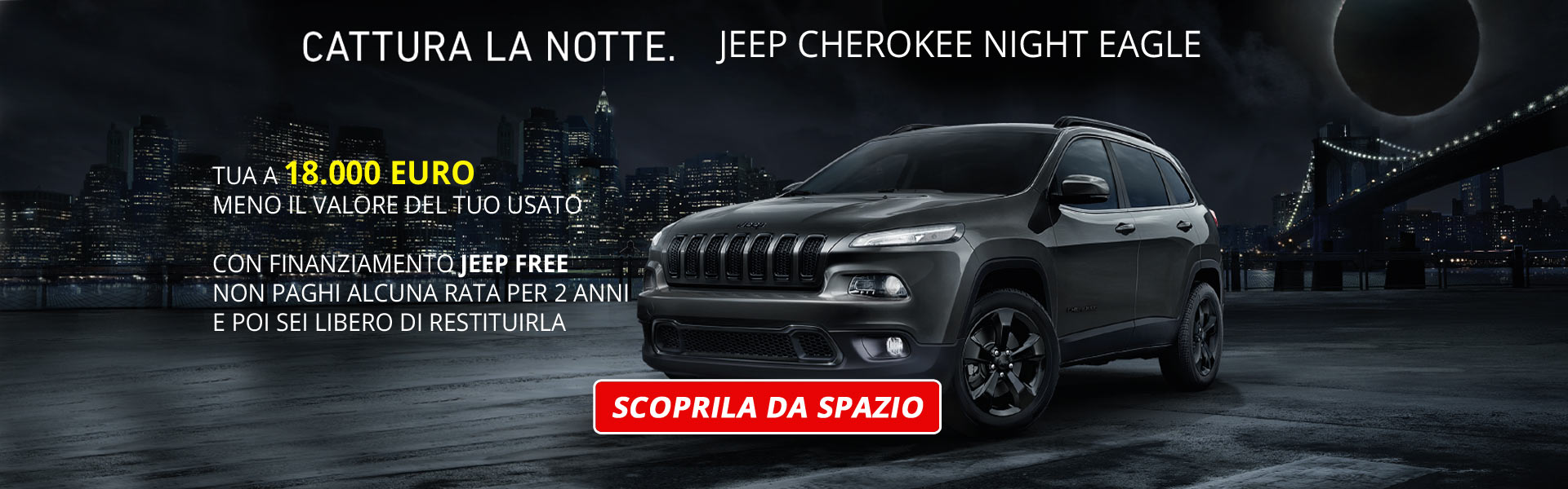 Jeep Cherokee edizione speciale Night Eagle