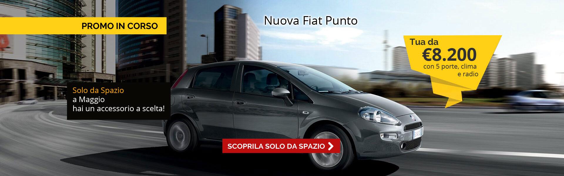 Fiat Punto da 8.200 Euro con accessorio in omaggio solo da Spazio