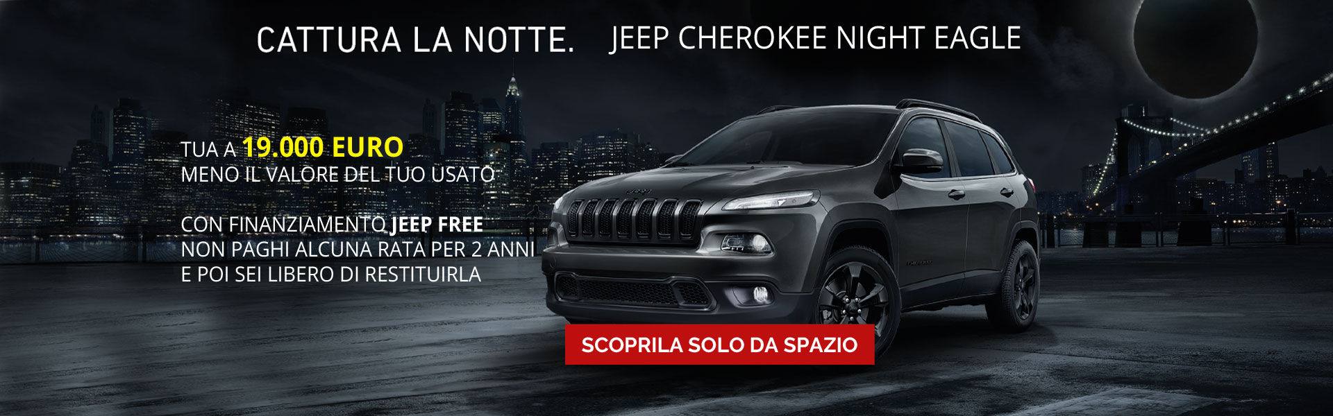 Jeep Cherokee serie speciale Night Eagle