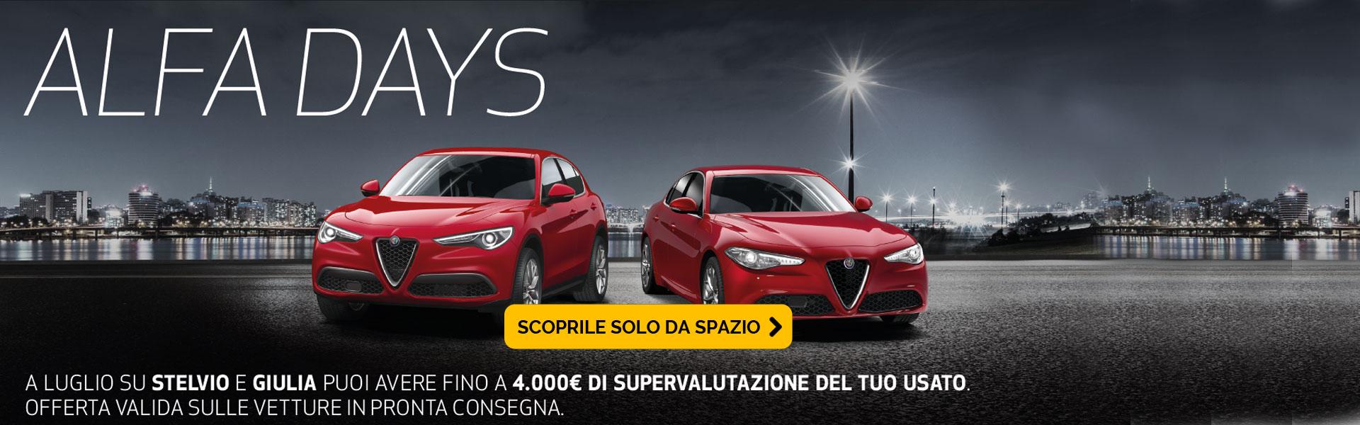 Supervalutazione del tuo usato su Alfa Stelvio e Giulia