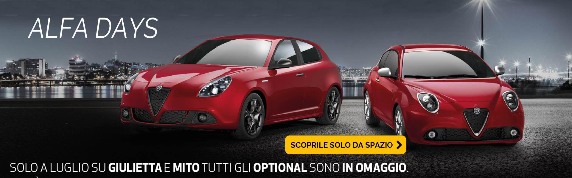 Optional in omaggio su Alfa Giulietta e Mito