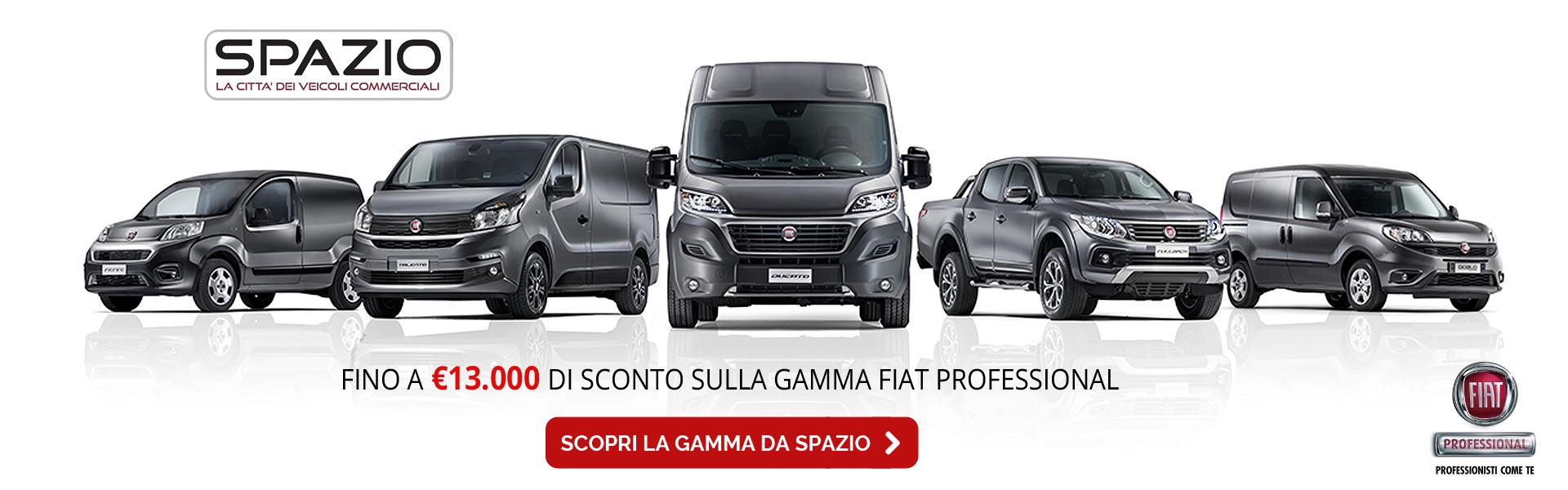 Sconti fino a 13.000 Euro su gamma Fiat Professional