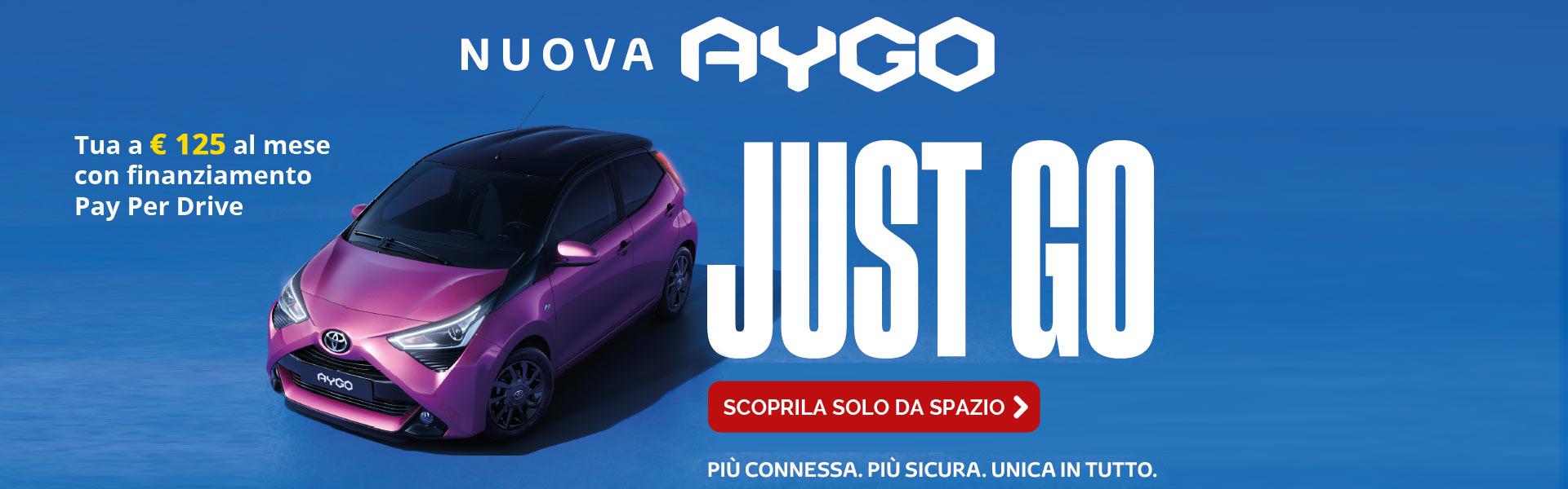 Toyota Aygo da 125 Euro al mese con Pay per Drive