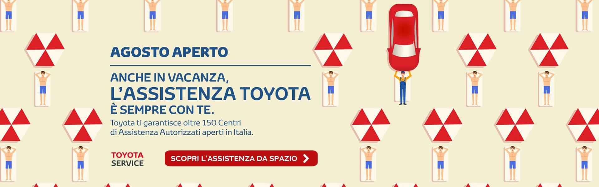 Iniziativa Agosto Aperto Assistenza Toyota