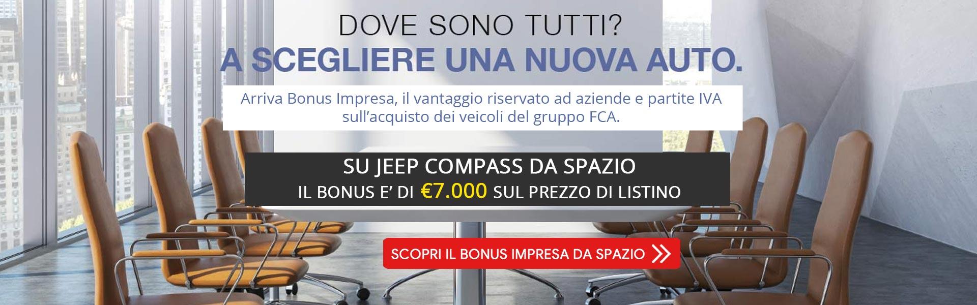 Bonus Impresa su Jeep Compass