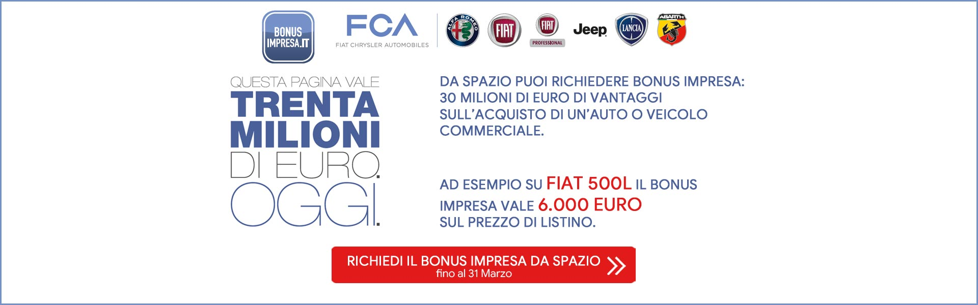 Bonus Impresa su Fiat 500 L