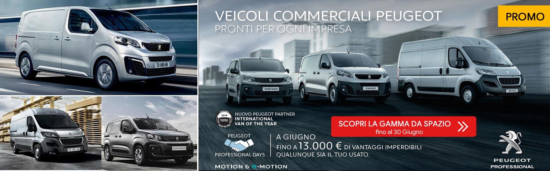 Gamma veicoli Peugeot Professional